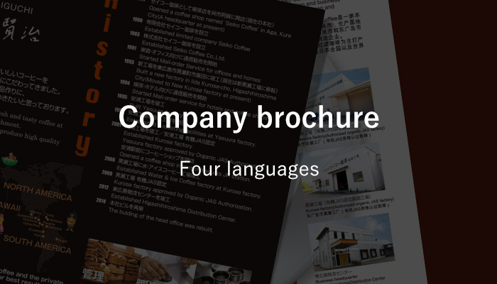 Company brochure Four languages